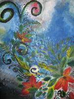 Life Bursting Forth - Acrylics Paintings - By Nicole Shirko, Modern Painting Artist