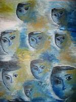 Variety - Faces In The Wind - Acrylics
