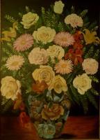 Oil Painting - Yellow Roses - Oil Colour