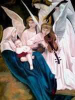 Oil Painting - Angels Song-Reproduction - Oil Colour