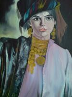 Oil Painting - The Beautiful Kourdish Girl-Reproduction - Oil Colour
