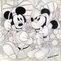 Portraits - Mickey Mouse - Marker Pen Pencil  Paper