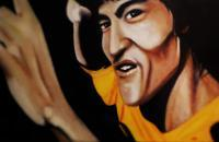 Bruce Lee - Acrylic Paintings - By Steve Meyerholz, Realistic Painting Artist