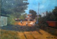 Realism - Nsukka Landscape - Oil On Canvas