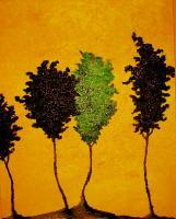 Tree People - Acrylic Paintings - By Michelle Babbitt, Abstract Painting Artist
