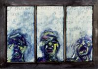 Maxwells Window - Charcoal  Crayon Drawings - By Holly Gauthier, Expressionism Drawing Artist