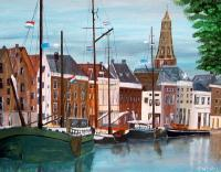 City Paintings - Hoge Der Aa Groningen - Acrylyc