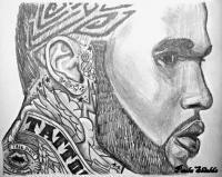Jason Derulo - Pencil Drawings - By Paula Shields, Black And White Drawing Artist
