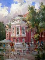 Impression - Varna City- After Rain - 40X30 Cm