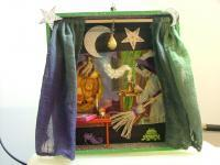 Spooky Shadow Boxes - Sleepy Spooky Shadow Box - Mixed Mediums