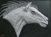 Steed - Cement  Aluminum Mixed Media - By William Ross, Realistic Mixed Media Artist