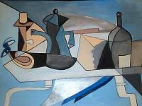 Cubism - Table - Oil