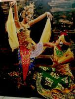 Bali - Balinese Dancers - Oil On Canvas