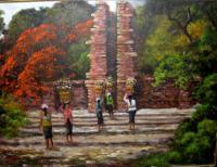Bali - Bali Pura - Oil On Canvas