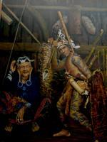 Dayak - Dayak Hunter - Oil On Canvas