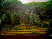 Java - Javanese Panorama - Oil On Canvas