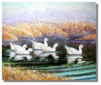 Barns And Wildlife In Oils - Wite Ducks - Oil On Canvas
