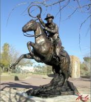 Stampede At Javellina Crossing - Bronze Sculptures - By Arthur Norby, Realistic Sculpture Artist