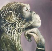 I Think Therefore I Am - Oil On Canvas Paintings - By Henk Bloemhof, Surrealism Painting Artist