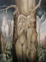 Mythology - The Three Graces - Oil On Canvas