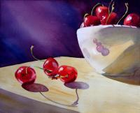 Still Life - Life Is Just A Bowl Of Cherries - Watercolor