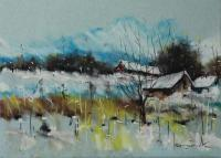 Winter Climates - Crayon Paper Drawings - By Tadeusz IwańCzuk, Realism Expressive Drawing Artist