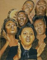 Portrait - Morning Choir - Giclee Print