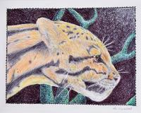 21St Century Art - Leopard In The Night - Color Pens Pencils