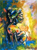 Figurative - African Lady - Oil On Canvas