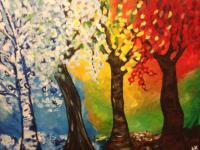Modern Trees - Seasons Of Chicago - Acrylic