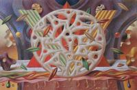 Abstract Works On Paper - Wheel Of Fortune - Pastel On Paper