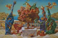 Still-Life - Still-Life With Butterflyes - Pastel On Paper