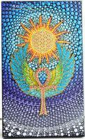 Ankh Key Of Life Dottilism - Acrylic Paint Paintings - By Olesea Arts, Mandala Painting Artist
