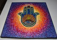 Hamsa Sacred Hand With Eye - Acrylic Paint Paintings - By Olesea Arts, Mandala Painting Artist