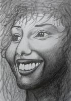 Flat Art - Smile - Pencil Sketch