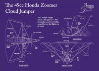 The Honda Zoomer 49Cc Power Glider - Adobe Illustrator Cs6 Drawings - By Kenneth Ruxton, Illustration Drawing Artist