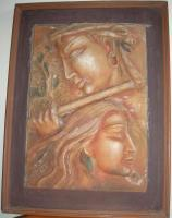Hand Created Wall Mural - Terracotta Sculptures - By Vijender Jain, Hand Made And Hand Painted Sculpture Artist