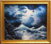 Seascape Sunset - Sea Storm - Oil Paint