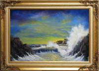 Seascape Sunset - Yellow Light - Oil Paint