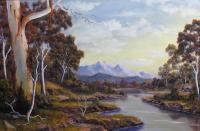 Landscapes - Shallow Creek - Oil Paint
