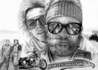Born To Be Wild - Graphite Drawings - By Margaret Harris, Realism Drawing Artist