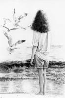 Graphite Drawings By Margaret - Seashore Viewer - Graphite