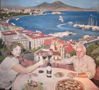 Lunch In Naples - Acrylic Paintings - By Dmitry Korman, Classical Realism Painting Artist