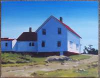 Maine - Monhegan Shade - Oil On Canvas