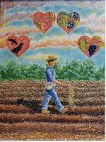 Acrylic Painting - Sower And The Seed - Painting Acrylic