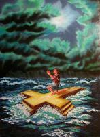 Acrylic Painting - Salvation In A Storm - Painting Acrylic