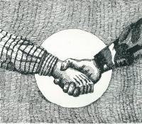 Pen And Ink - The Hand Of Fellowship - Pen And Ink