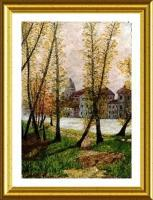 Image 008 - Colored Pencils On Textil Paintings - By Vincent Consiglio, Landscape Painting Artist
