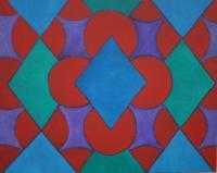 Oil Paintings - Geometric 1 - Oil On Masonite