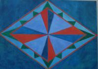 Oil Paintings - Geometric 2 - Oil On Masonite